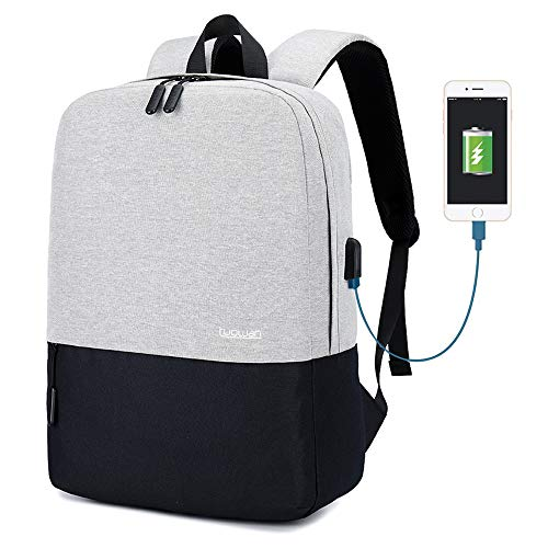 College Backpack, Water-Resistant Laptop Backpack for Men Women Fits 15.6 inch Travel Casual Daypack for Teens Bookbag with USB Charging Port.