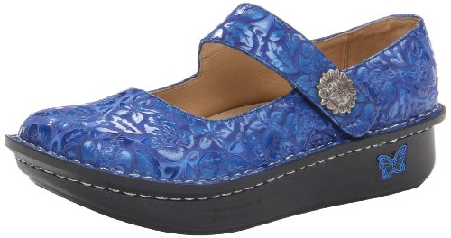Alegria Womens Paloma Blue Etched Patent 35 M EU/5-5.5 B(M) US