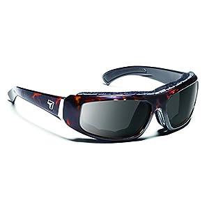 7eye Bali SharpView Sunglasses, Tortoise Dark Frame, Gray Lens, Small/Large
