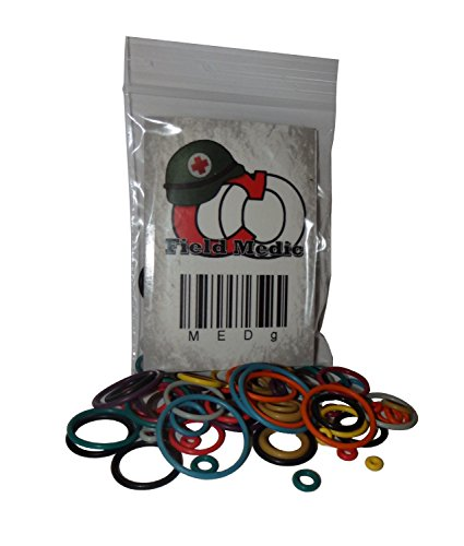 Captain O-Ring Field Medic Color Coded Master Paintball Oring Kit - 21 Sizes 63 (Kit Paintball Gun Parts)