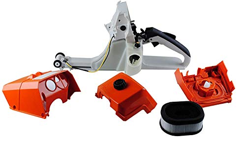 (Swess MS440 Chainsaw Parts for STIHL MS440 044 Gas Fuel Tank Rear Handle with Air Filter & Cover Base)