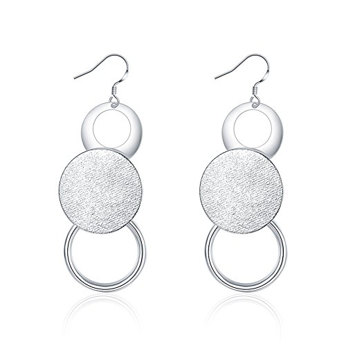 Luxury Fashion Ear Decorate Accessories Women Jewelry 925 Silver Plating Dangle Earrings (Round shaped)