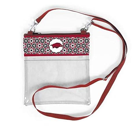 e89aa53e16c0 Canyon Outback Clear Crossbody Game Day Bag (Stadium Approved) … (Arkansas)