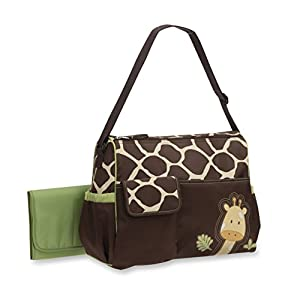 Baby Boom Animal Print Collection – Forest Giraffe Print Diaper Duffel Bag – Large, Roomy Bag, with Wipeable Diaper…