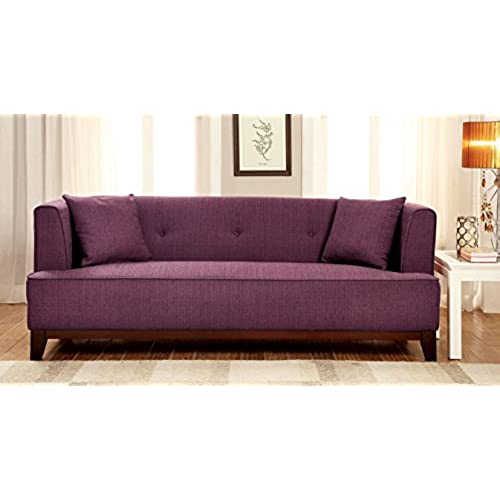 Lovely Furniture Of America Elsa Neo Retro Sofa, Purple