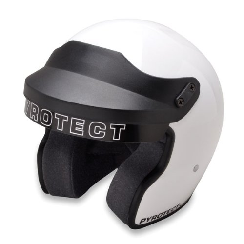 Pyrotect 960605 Sportsman M2010 Open Face Helmet, XX-Large, White
