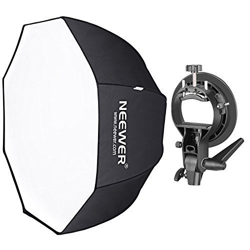 Neewer 48 inches/120 centimeters Octagonal Softbox with S-Type Bracket Holder (with Bowens Mount) and Carrying Bag for Speedlite Studio Flash Monolight, Portrait and Product Photography