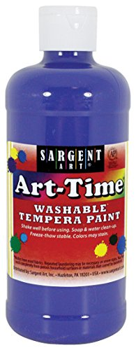 16 oz Blue Art-Time Washable Tempera Paint - Sargent Art 17-3450