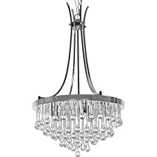 Bacchus 5 Light Crystal Chandelier, Cannot be used with a rod instead of a chain
