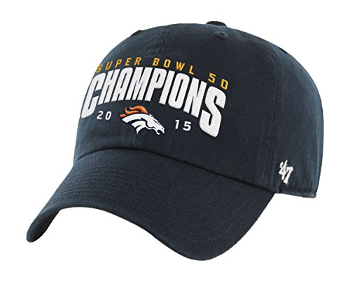 fe7bb819571d37 ... uk amazon nfl denver broncos 2015 super bowl 50 champions 47 clean up adjustable  hat navy