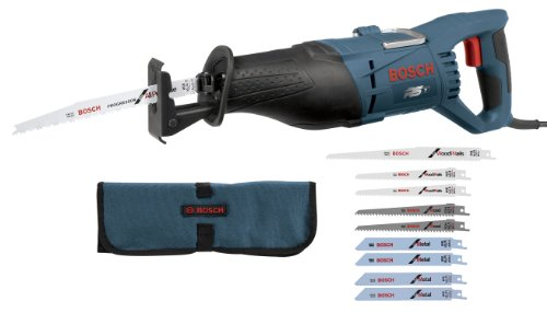 - Bosch RS7 + RAP10PK 1-1/8-Inch 11-Amp Reciprocating Saw and 10-Piece General Purpose Blade Set