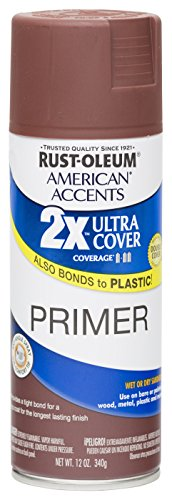 - Rust Oleum 280714 American Accents Ultra Cover 2X Spray Paint,  Gloss Red Primer, 12-Ounce
