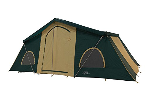 Trek Tents 249 3-Room Cabin Tent, 10 x 20-Feet, Purple/Tan