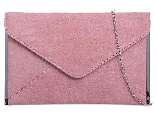 Blush K50292 Women's Clutch Party Purse Ladies Suede Evening Bag Handbag Envelope 6qWTwO