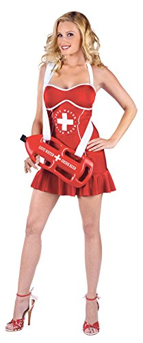Adult-Costume Off Duty Lifeguard Adult 2-8 Halloween Costume