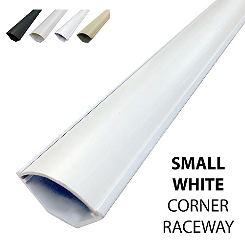 Series Medium Cord (Small Corner Duct Cable Raceway (1075 Series) - 5 Feet - White)