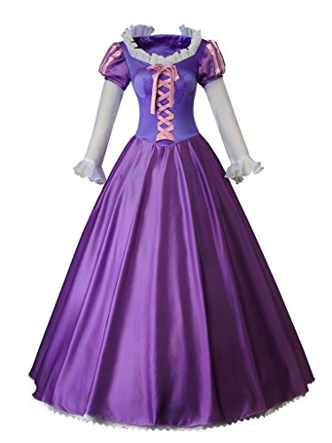 CosFantasy Princess Rapunzel Cosplay Costume Ball Gown Purple Dress mp003880 (Women XS) -