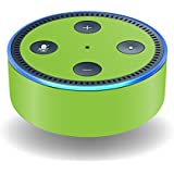 MightySkins Skin For Amazon Echo Dot (2nd Gen) - Solid Lime Green | Protective, Durable, and Unique Vinyl Decal wrap cover | Easy To Apply, Remove, and Change Styles | Made in the USA