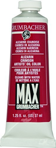 Grumbacher Max Water Miscible Oil Paint, 37ml/1.25 oz, Alizarin Crimson by Grumbacher