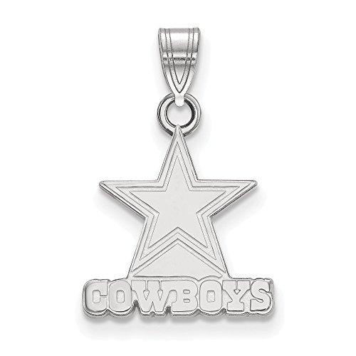 Sterling Silver Dallas Cowboys Small Pendant