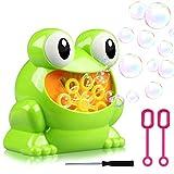 ZGWJ Kids Automatic Bubble Machine,Frog Bubble Blower Machine Make Over 500 Bubbles per