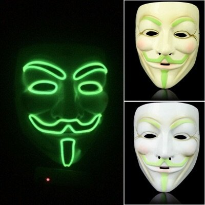 1PC Night Glowing Fancy Cosplay Face Mask Halloween Party Costume Masquerade -
