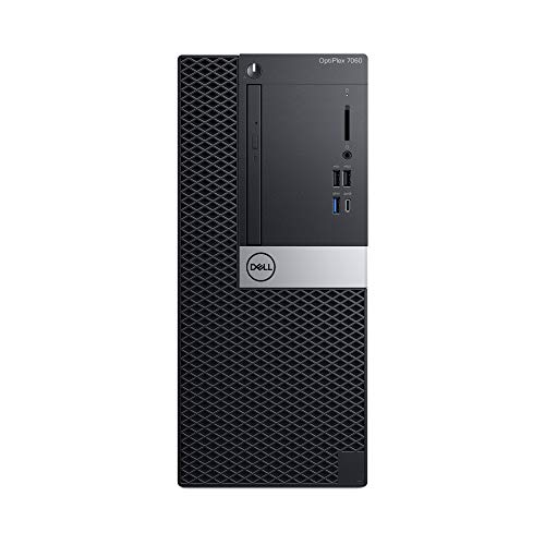 Dell OP7060MTW9M7T OptiPlex 7060 Desktop Computer with Intel Core i7-8700 3.2 GHz Hexa-core, 8GB DRAM, 1TB HDD