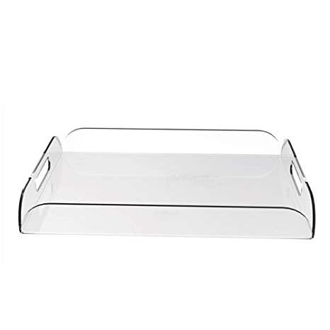 Pleasant Amazon Com A4 Clear Acrylic Serving Tray Coffee Table Ibusinesslaw Wood Chair Design Ideas Ibusinesslaworg