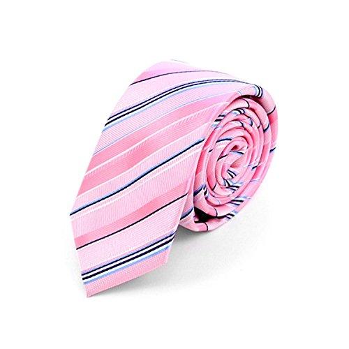 Woven Poly Mens Tie (Men's Striped Mircofiber Poly Woven Slim Necktie)