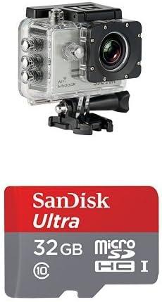 Pack de cámara de acción y tarjeta microSD: Amazon.es: Electrónica