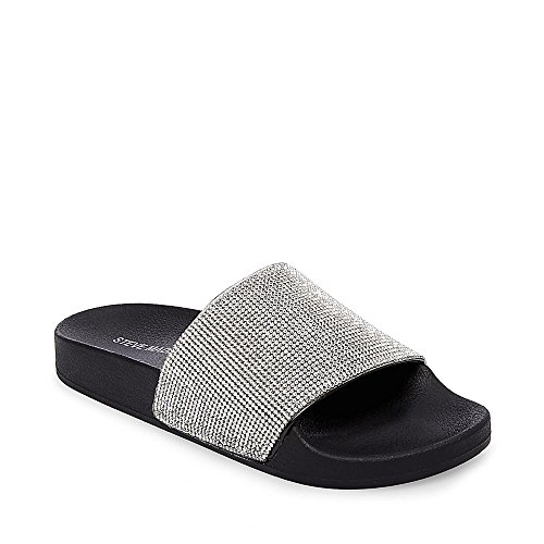 Madden Girl Women's Fancy Slide Sandal, Black Paris, 9 M US