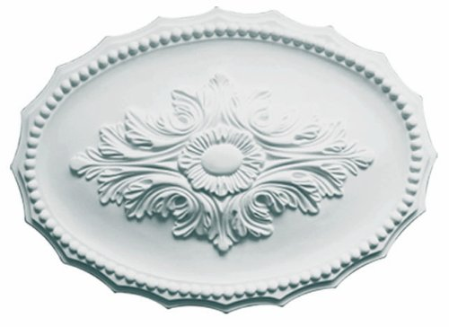 17'' X 12'' Decorative Oval Architectural Ceiling Wall Medallion - IWW-590