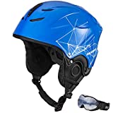 ROCKBROS Ski Helmet Winter Skate Snowboard Snow Sports Helmet and Ski Goggles for Adult Men Women