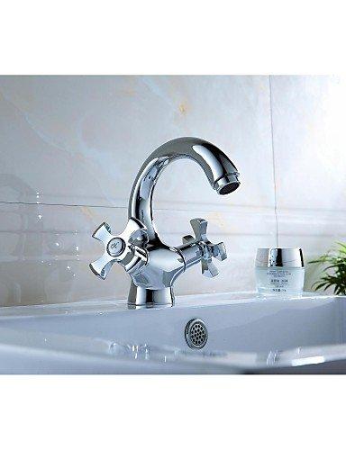 Waschbecken Wasserhahn Chrom-Finish Messing (warm und kalt)