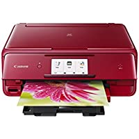 Canon PIXMA TS8020 Wireless Inkjet All in One Printer, Red