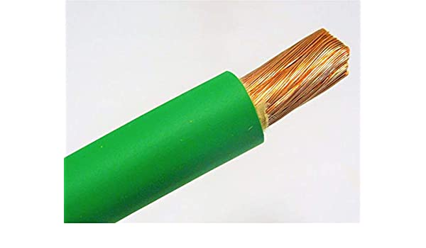 20/' 2//0 WELDING BATTERY CABLE 10/' BLACK 10/' GREEN 600V USA HEAVY DUTY COPPER