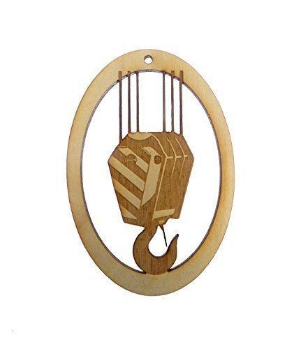 Add Crane (Crane Hook Ornament - Crane Operator Gifts - Heavy Equipment Gift - Construction Ornament)
