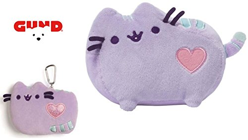 Gund Purple Pastel Stuffed Animal and ID/Badge Case with Clip