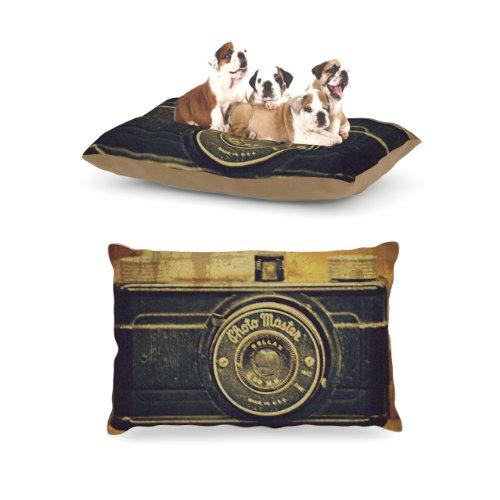 Kess InHouse Robin Dickinson ''Discarded Treasure'' Vintage Camera Dog Bed by Kess InHouse