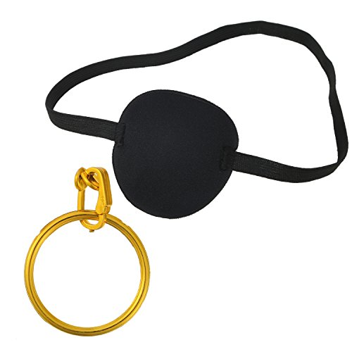 Sumind 24 Pieces Pirate Eye Patch and Plastic Pirate Earring for Party Costume
