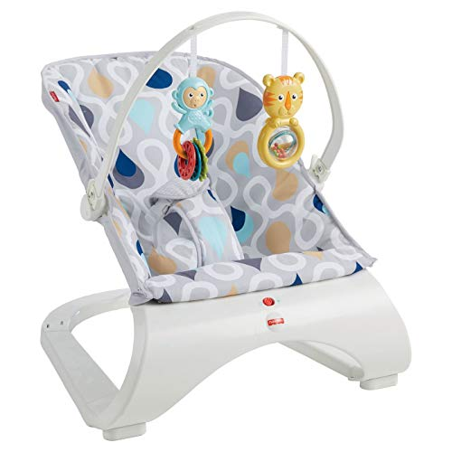 Fisher Price Bouncer Replacement Seat Pad/Cushion or Infant Support Insert [FMD19 Blue TEARDROPS Comfort Curve)