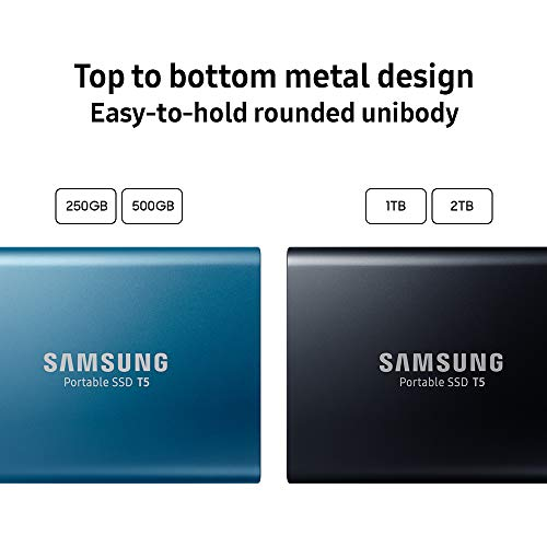 Samsung T5 Portable SSD - 1TB - USB 3.1 External SSD (MU-PA1T0B/AM), Black