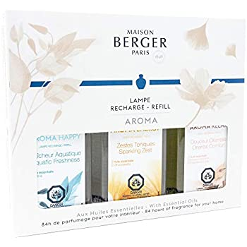 Lampe Berger Fragrance Trio Refill for Home Fragrance Oil Diffuser - 3x6.08 Fluid Ounces - 3x180 milliliters (Trio Aroma)