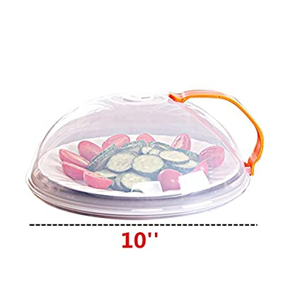 Yamde 2Pcs Domed Vented Microwave Cover with Handle