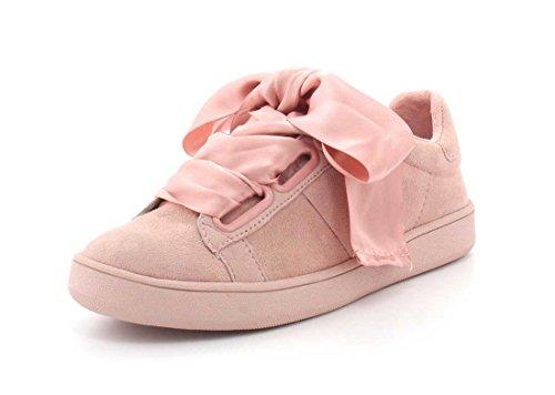 Jeffrey Campbell Kvinners Pabst Lav Top Sneaker Rosa Semsket Combo