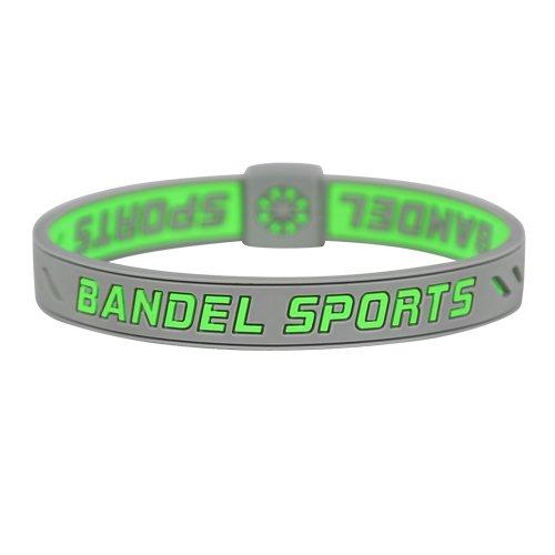 BANDEL SPORTS(반델 스포츠) 스트링 팔찌 문자열 팔찌 (그린 × 그레이)