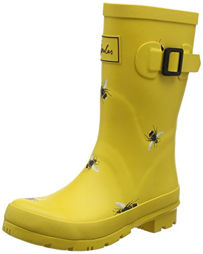 MOLLYWELLY Women's Gold Rain Botanical Bees Joules Boot 51Fwnq8gF