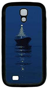 Brian114 Samsung Galaxy S4 Case, S4 Case - Protective Skin Black Soft Rubber Case for Samsung Galaxy S4 I9500 Tree Among The Sea Pattern Case Cover for Samsung Galaxy S4 I9500