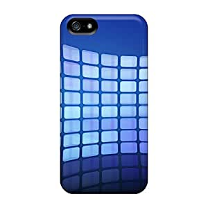 Cynthaskey Premium Protective Hard Case For Iphone 5/5s- Nice Design - Blue Network