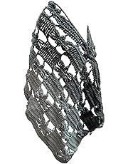 شال كروشيه صوف مستطيل / صناعة يدوية / رسمة فراشة / المقاس 180 سم في 60 سم /وزن 350 جرام